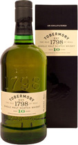 Tobermory+10+Jahre - Tobermory 10 years with 700 ml. and 40 % volume.   The Tobermory 10 year old has evolved with a new look and taste, reinforcing the premium quality and heritage of the brand. By not chillfiltering the...