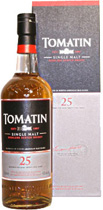 Tomatin Whisky 25 years - Tomatin 25 years with 700 ml. content and 43 % volume.   The Tomatin 25 years is a Highland Single Malt Whisky, which got a second maturation in Oloroso Sherry Casks. Gold Medalie at the International...