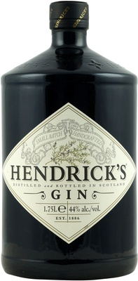 hendricks gin in der gro en 1 75 liter flasche mit 44. Black Bedroom Furniture Sets. Home Design Ideas
