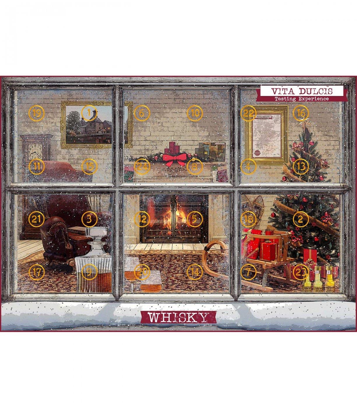 whisky adventskalender mit ganzen 24 sorten. Black Bedroom Furniture Sets. Home Design Ideas