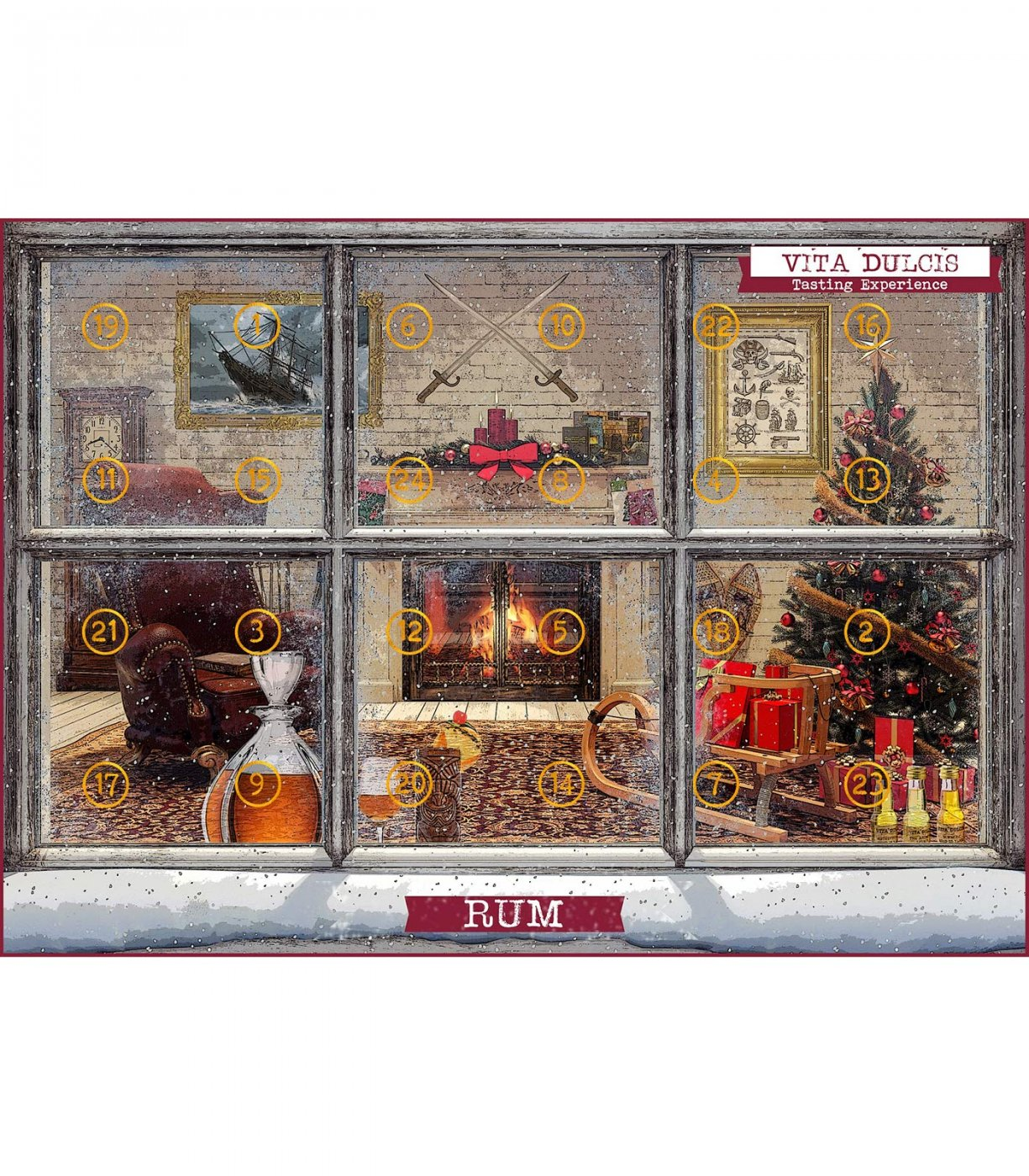 rum adventskalender mit 24 sorten aus 15 l ndern im spirituosen shop. Black Bedroom Furniture Sets. Home Design Ideas