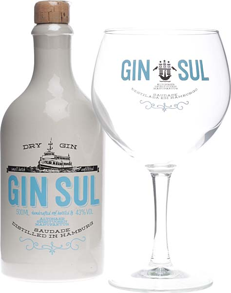 gin sul geschenkset mit gin sul glas und 500 ml flasche. Black Bedroom Furniture Sets. Home Design Ideas