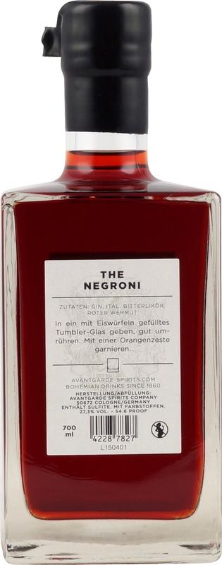 Avantgarde No.4 The Negroni 700ml 27,3% Vol.