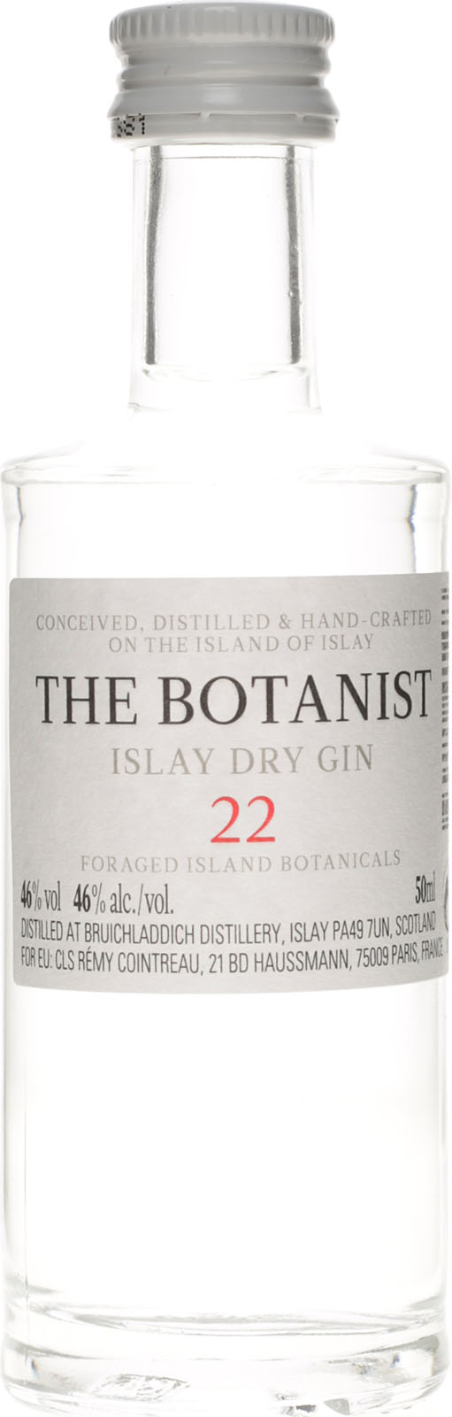 botanist islay dry gin bruichladdich 50ml 40. Black Bedroom Furniture Sets. Home Design Ideas