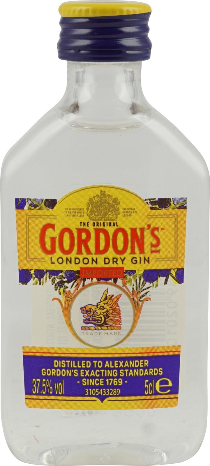 Sidste nye Gordons London Dry Gin in der Miniaturflasche im Spirituosen GE-73