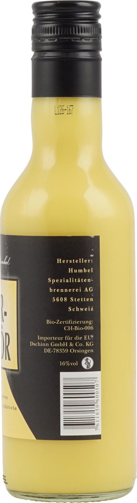 Humbel Schweizer Bio Eierlikör günstig im Schnaps & Likör Online Shop