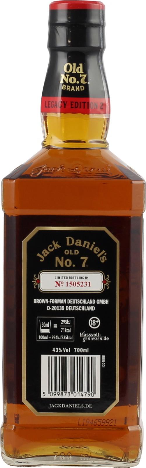 Jack Daniels Legacy Edition 2 1905, limitiert
