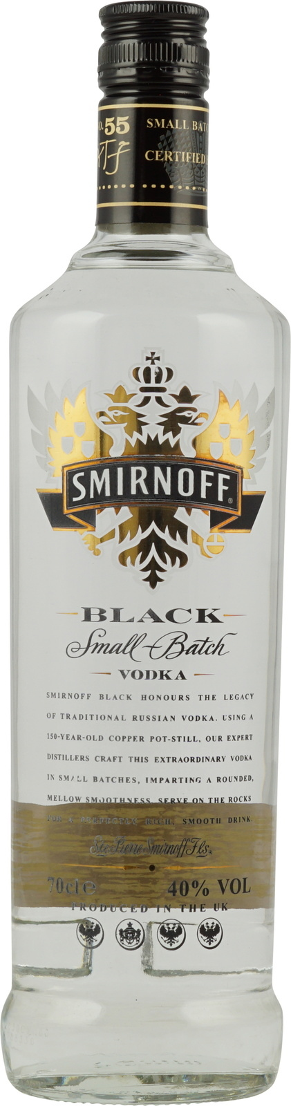 smirnoff vodka black label 0 7 liter 40 vol ber 110. Black Bedroom Furniture Sets. Home Design Ideas
